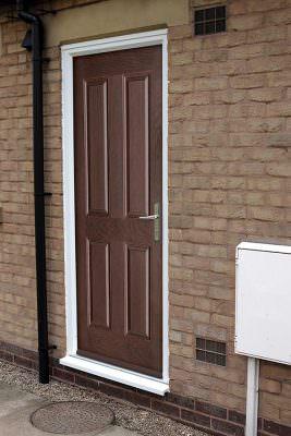 Brown composite fire door