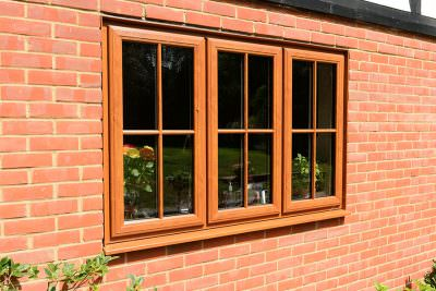 Oak effect uPVC casement window