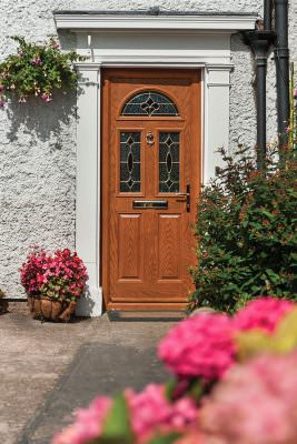 Oak effect composite door