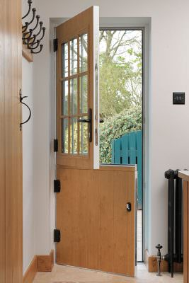 Oak effect composite stable door