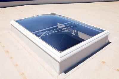 White uPVC roof light
