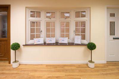 Showroom uPVC bow window