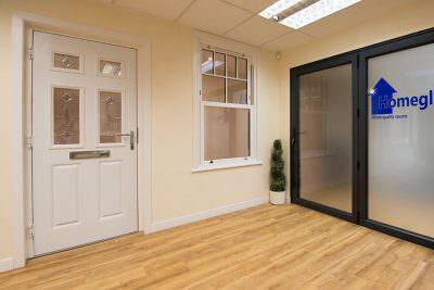 Showroom composite doors and windows