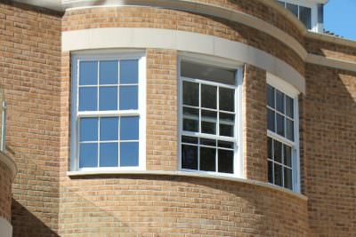 Bow sliding sash windows