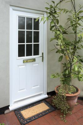 White composite fire door