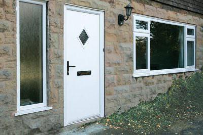 White Fire door installation