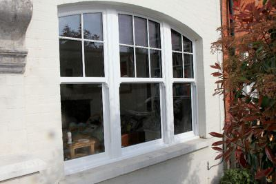 Bespoke sliding sash window installation