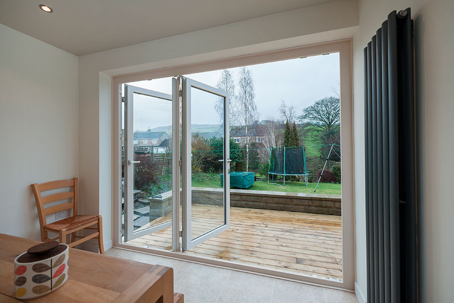 Upvc bifold doors homeglaze quality windows doors for Upvc sliding doors