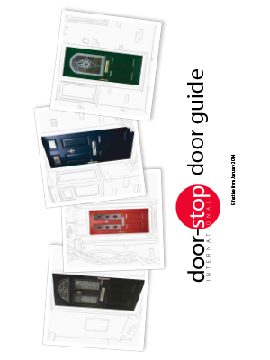 Door stop door guide brochure