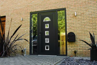 Black uPVC entrance door