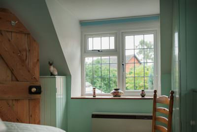 White uPVC casement window interior
