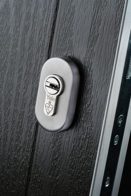 Composite door lock and security
