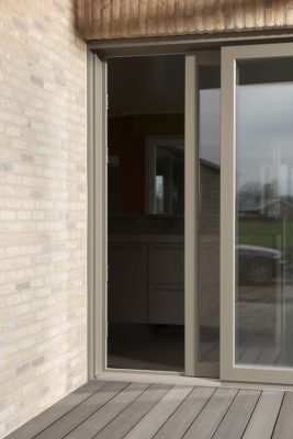 Cream sliding Patio door