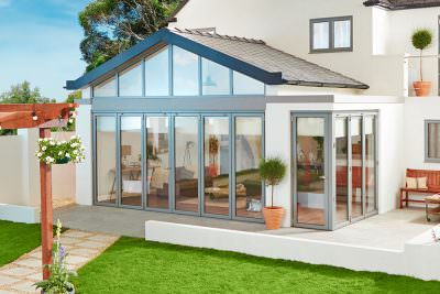 Bi-Fold Doors with conservatory