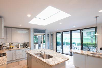 Kitchen roof light installation