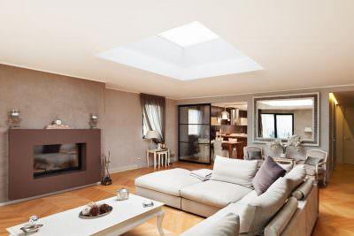 Living room roof light installation