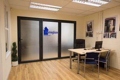 Showroom bifold door