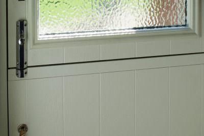 Composite stable door closeup