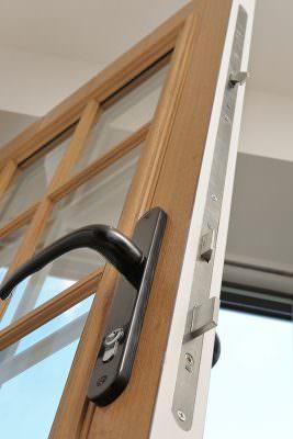 Stable door lock close up