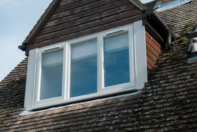 White casement window uPVC