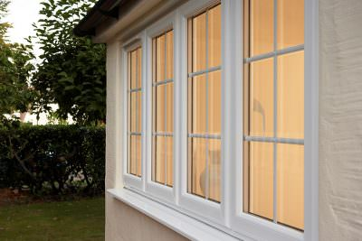 Casement window white uPVC windows