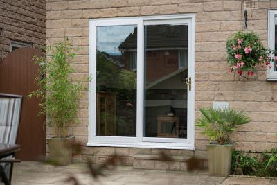 uPVC white garden patio door