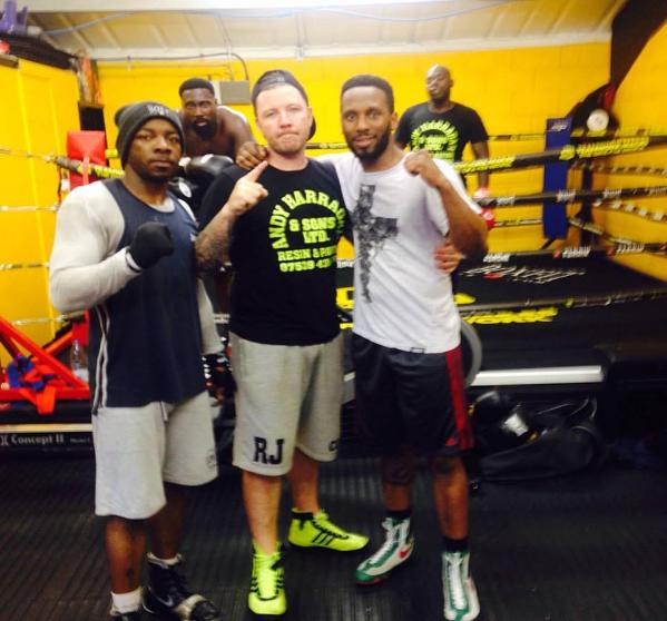 RJ's boxing club Homeglaze sponsor