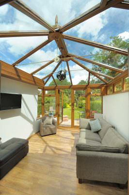 golden oak conservatory roofs