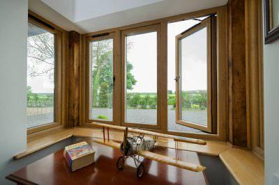 timber style window